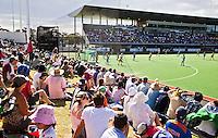 MELBOURNE - Overzicht van het stadion  tijdens de halve finale tussen de mannen van Australie en India bij de Champions Trophy hockey in Melbourne. ANP KOEN SUYK