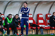 Hamilton Academical Player Manager Martin Canning watching the action during the Ladbrokes Scottish Premiership match between Hamilton Academical FC and Aberdeen at New Douglas Park, Hamilton, Scotland on 22 November 2015. Photo by Craig McAllister.