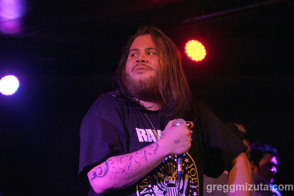 Ancesters Cameron Andreas performs at the Neurolux on July 9, 2016 in Boise, Idaho. (Gregg Mizuta/greggmizuta.com)<br /> <br /> Band members: Useless J (Guitar), Wes Stroh (Drums), Jared Dawson (Bass), <br /> Cameron Andreas (Vox).