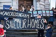 6 Dec. 2014 - Save Cressingham Estate protest at Brixton Town Hall.