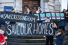 6 Dec. 2014 - Save Cressingham Estate protest at Brixton Town Hall.