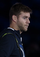 Tennis - 2017 Nitto ATP Finals at The O2 - Day One<br /> <br /> Mens Doubles: Group Eltingh/Haarhus: Henri Kontinen (Finland) & John Peers (Australia) Vs Ryan Harrison (United States) & Michael Venus (Australia)<br /> <br /> Micheal Venus (New Zealand) enters the court<br /> <br /> COLORSPORT/DANIEL BEARHAM
