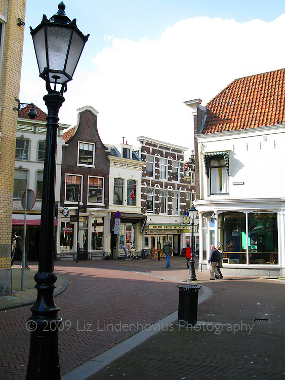 Street in Gouda, Holland
