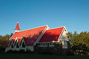 Mauritius. The church by the sea at Cap Malheureux.