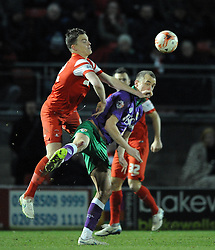 Leyton Orient's Shane Lowry challenges for the ball with Bristol City's Aaron Wilbraham - Photo mandatory by-line: Dougie Allward/JMP - Mobile: 07966 386802 - 03/03/2015 - SPORT - football - Leyton - Brisbane Road - Leyton Orient v Bristol City - Sky Bet League One