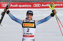 19.02.2017, St. Moritz, SUI, FIS Weltmeisterschaften Ski Alpin, St. Moritz 2017, Slalom, Herren, Siegerehrung, im Bild Felix Neureuther (GER, Herren Slalom Bronzemedaille) // men's Slalom Bronze medalist Felix Neureuther of Germany during the winner Ceremony for the men's Slalom of the FIS Ski World Championships 2017. St. Moritz, Switzerland on 2017/02/19. EXPA Pictures © 2017, PhotoCredit: EXPA/ Sammy_Minkoff