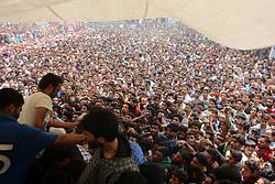 June 17, 2017 - Kulgam, Jammu and Kashmir, India - Thousands attend funeral procession of a Slain Kashmiri rebel Junaid ah Matoo at Khudwani village of kulgam District, 60KM from Srinagar. Tawseef along with two associates killed in 20 hours long gun battle in Arwani Kulgam. (Credit Image: © Muneeb Ul Islam/Pacific Press via ZUMA Wire)