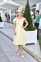 Charlotte Hawkins at the 2d day of The Investec Derby Festival - Derby Day, Epsom Racecourse, Epsom, Surrey, UK. 01 June 2019.
