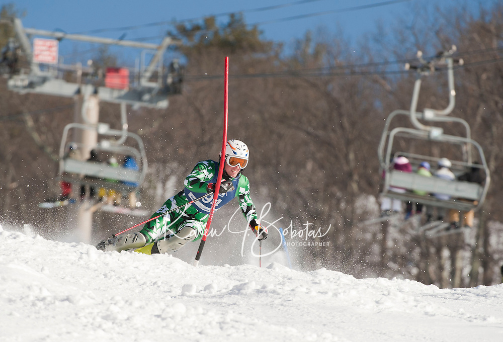 FIS Eastern Cup at Cranmore J1, J2 2nd run mens alpine slalom race January 29, 2012.