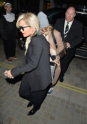 Singer Rita Ora and model Cara Delevingne at Chiltern Firehouse in Marylebone, London, UK. 14/05/2014<br />