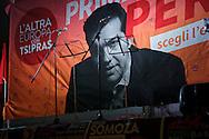 Elezioni europee. Campagna elettorale della lista Tsipras. Comizio a Milano, 10 maggio 2014.