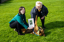 Pictured: Lindsay Fyffe, Edinburgh Dog and Cat Home joined Christine Grahame and Sasha today<br /> <br /> SNP MSP Christine Grahame was joined at Edinburgh Cat and Dog home by animal welfare organisations and eight-year-old Dutch Shepherd Sasha to highlight her members bill to curb irresponsible dog breeding and buying. <br /> Ger Harley | EEm 4 May 2018