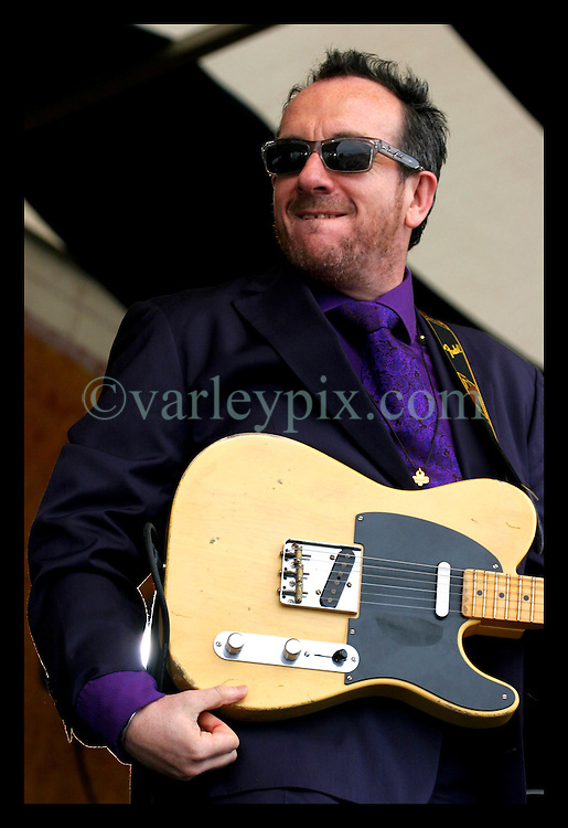 April 30th, 2006. New Orleans, Louisiana. Jazzfest . The New Orleans Jazz and Heritage festival. Music legend and icon Elvis Costello makes a guest appearance with Alan Toussaint on the Acura stage.