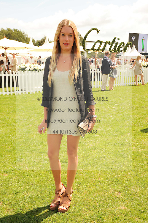 The HON.EMILY PEARSON at the Cartier International Polo at Guards Polo Club, Windsor Great Park, Berkshire on 25th July 2010.