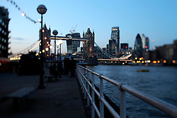 UK ENGLAND LONDON 2FEB14 - Tower Bridge and the skyline of the City of London, seen from Butler's Wharf.<br /> <br /> <br /> <br /> jre/Photo by Jiri Rezac<br /> <br /> <br /> <br /> &copy; Jiri Rezac 2014