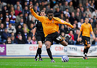 Photo: Leigh Quinnell/Sportsbeat Images.<br /> Queens Park Rangers v Hull City. Coca Cola Championship. 03/11/2007. Hulls Jay-Jay Okocha has a shot at goal but can't find a way through.