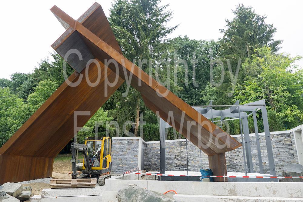 Bau der Feldkapelle, Sonnenberg, Wiesbaden, Hessen, Deutschland | construction of field chapel, Sonnenberg, Wiesbaden, Hesse, Germany