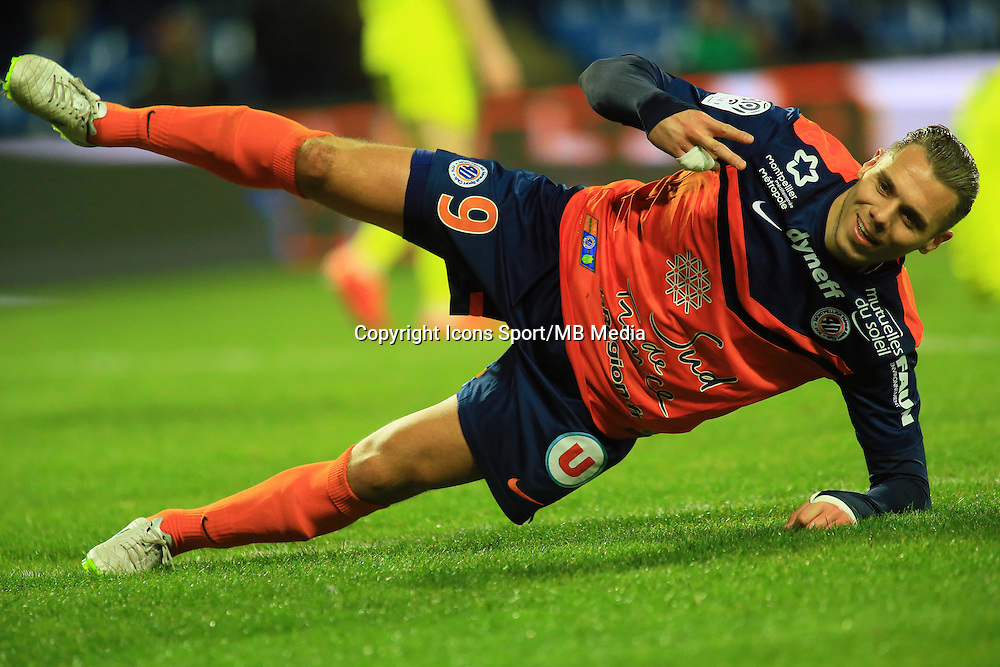 joie Kevin BERIGAUD  - 24.01.2015 - Montpellier / Nantes  - 22eme journee de Ligue1<br />