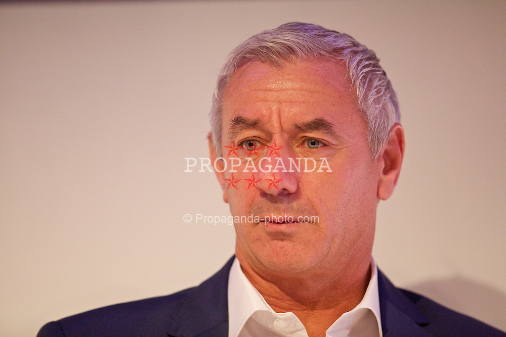 NEWPORT, WALES - Saturday, May 30, 2015: Ian Rush during the Football Association of Wales' National Coaches Conference 2015 at the Celtic Manor Resort. (Pic by David Rawcliffe/Propaganda)
