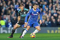 Eden Hazard of Chelsea during the Premier League match between Chelsea and West Bromwich Albion at Stamford Bridge, London, England on 11 December 2016. Photo by Salvio Calabrese.