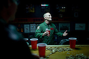 "U2 pilot Lt. Colonel A.J. Werner tells stories at the bar in the ""Heritage Room"" at Beale Air Force Base February 23, 2010 in Linda, Calif."