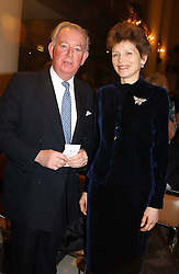 The EARL & COUNTESS OF HALIFAX at the annual House of Lords & House of Commons Parliamentary Palace of Varieties at St.John's Smith Square, London on 27th January 2005.<br /><br />NON EXCLUSIVE - WORLD RIGHTS