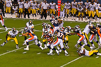 Denver Broncos vs. Pittsburgh Steelers NFL football game, Invesco Field at Mile High (stadium), Denver, Colorado USA