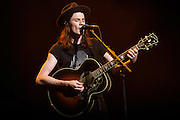 Photo of the musician James Bay performing live on stage at Radio City Music Hall, NYC on September 30, 2016. © Matthew Eisman/ Getty Images. All Rights Reserved