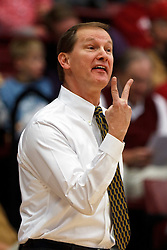Feb 19, 2012; Stanford CA, USA; Oregon Ducks head coach Dana Altman on the sidelines against the Stanford Cardinal during the first half at Maples Pavilion. Oregon defeated Stanford 68-64. Mandatory Credit: Jason O. Watson-US PRESSWIRE