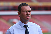 Plymouth Argyle manager Derek Adams during the EFL Sky Bet League 1 match between Walsall and Plymouth Argyle at the Banks's Stadium, Walsall, England on 2 September 2017. Photo by Alan Franklin.
