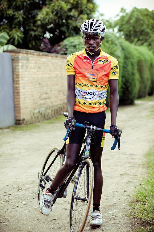 Rwandan Cyclist Habiyambere Nicodem, aka: 'Nic Nic', aged 23.