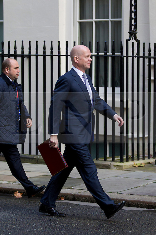 © Licensed to London News Pictures. 16/10/2012. LONDON, UK. William Hague, the Foreign Secretary, is seen on Downing Street in London for today's (16/10/2012) meeting of David Cameron's cabinet. Photo credit: Matt Cetti-Roberts/LNP