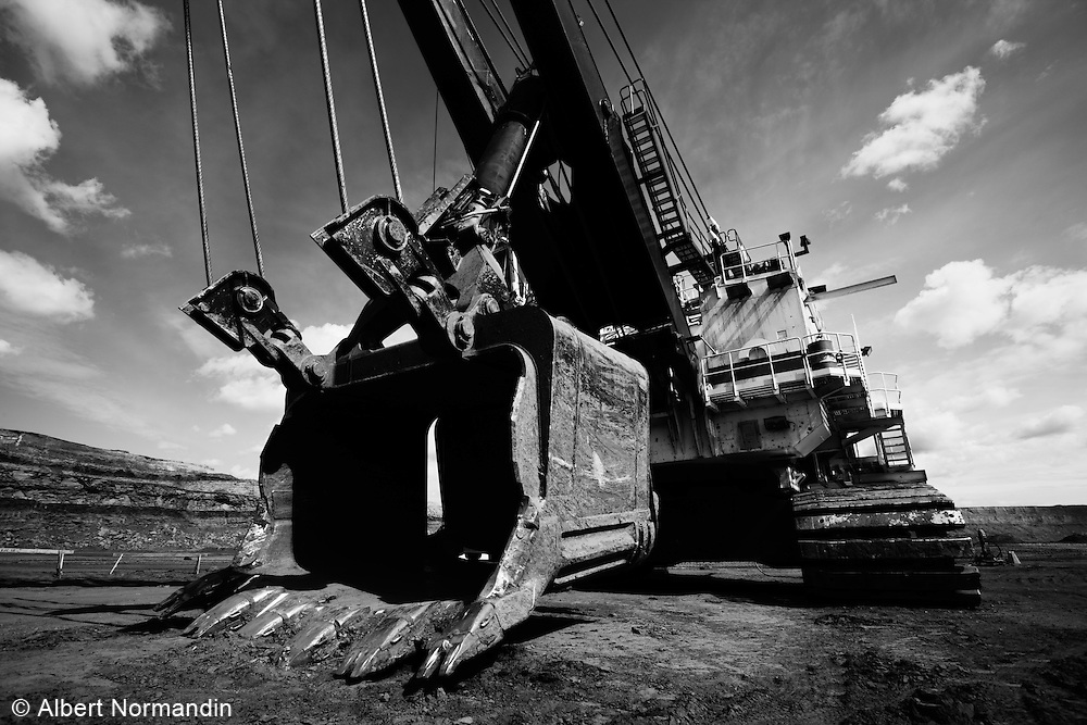 Heavy duty mining equipment, Athabasca Tar Sands project, Fort McMurray, Alberta
