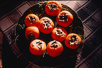 Persimmons in morning light.