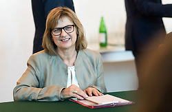 05.06.2019, Bundeskanzleramt, Wien, AUT, Bundesregierung, Sitzung des ersten Ministerrats nach der Angelobung der Übergangsregierung, im Bild Nachhaltigkeits- und Tourismusministerin Maria Patek // Austrian Minister for Sustainability and Tourism Maria Patek during Tour de Table before first cabinet meeting after inauguration at federal chancellors office in Vienna, Austria on 2019/06/05 EXPA Pictures © 2019, PhotoCredit: EXPA/ Michael Gruber