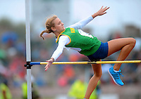 21 Aug 2016:  Ciara Kennelly, Kerry, taking part in the Girls U16 High Jump.  2016 Community Games National Festival 2016.  Athlone Institute of Technology, Athlone, Co. Westmeath. Picture: Caroline Quinn