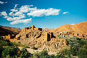 BOULMANE DADES, MOROCCO - 13TH MAY 2016 - Derelict kasbah architecture in the Dades Gorge, Southern Morocco.