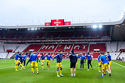 Bristol Rovers warm up ahead of their Sky Bet League One fixture against Sunderland - Mandatory by-line: Robbie Stephenson/JMP - 15/12/2018 - FOOTBALL - Stadium of Light - Sunderland, England - Sunderland v Bristol Rovers - Sky Bet League One