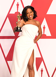 """Regina King, winner of the Best Supporting Actress Award for """"If Beale Street Could TalkÓ at the 91st Annual Academy Awards (Oscars) presented by the Academy of Motion Picture Arts and Sciences.<br /> (Hollywood, CA, USA)"""