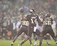 Ole Miss vs. Mississippi State quarterback Chris Relf (14)  in Starkville, Miss. on Saturday, November 26, 2011.