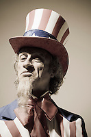 Portrait of Uncle Sam looking a bit smug or arrogant