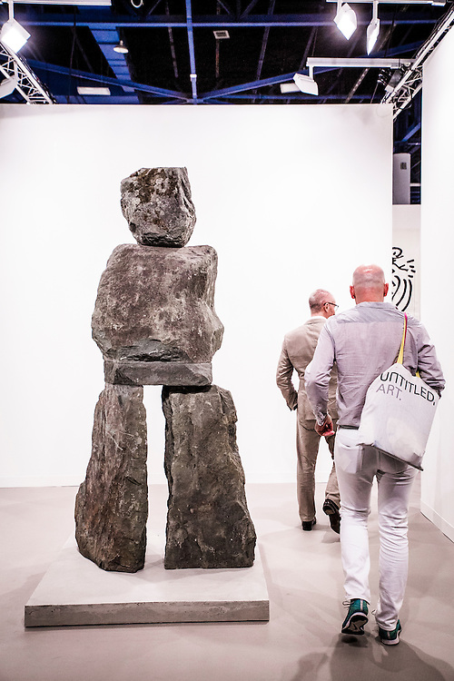 Neolithic-looking sculpture at Art Basel Miami Beach 2015