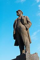 Ukraine, Donbass, Donetsk, staue de Lenine sur la place principale. // Ukraine, Donbass, Donetsk, Lenine statue on the main square.