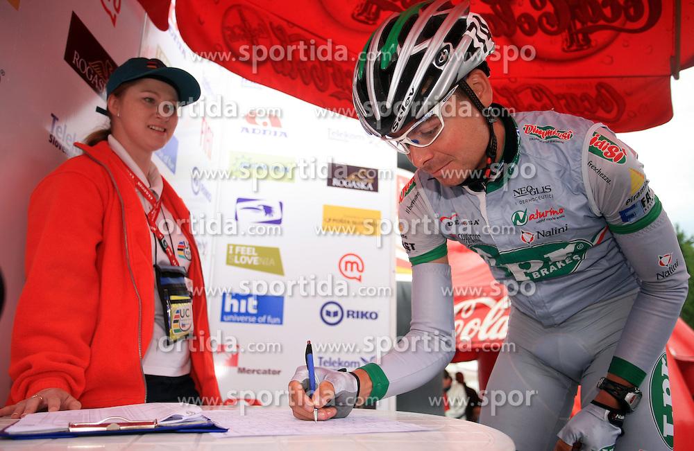 Winner Jure Golcer of Slovenia (LPR Brakes) before 3rd stage of the 15th Tour de Slovenie from Skofja Loka to Krvavec (129,5 km) , on June 13,2008, Slovenia. (Photo by Vid Ponikvar / Sportal Images)/ Sportida)