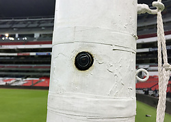 A view of the goal line technology at the Azteca Stadium in Mexico City ahead of the international friendly between Mexico and Scotland. PRESS ASSOCIATION Photo. Picture date: Saturday June 2, 2018. See PA story SOCCER Scotland. Photo credit should read: Ronnie Esplin/PA Wire