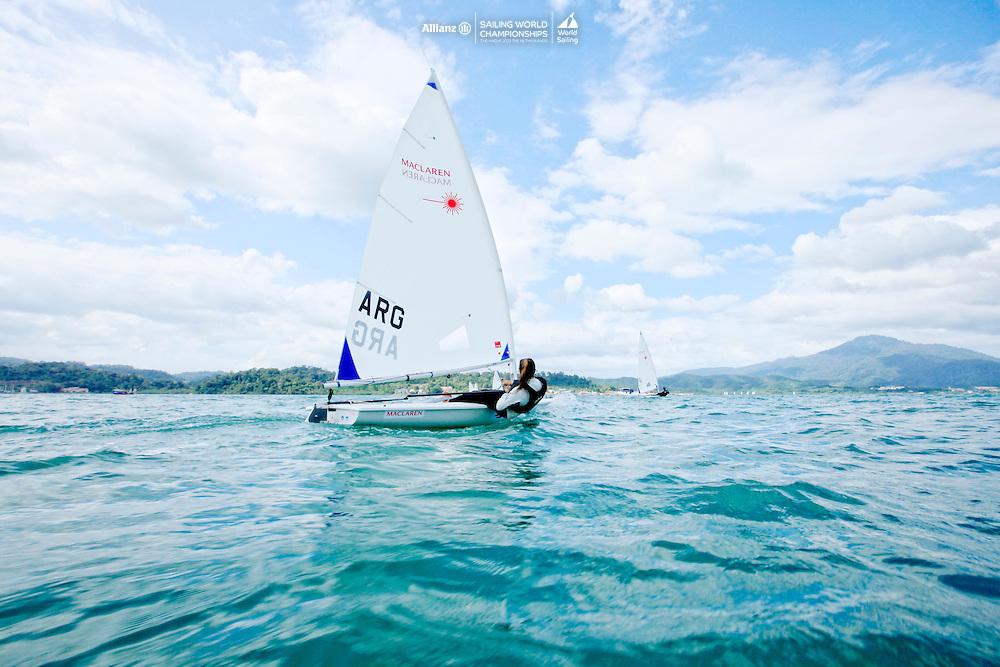 Laser RadialWomenHelmARGMC23MariaCasta&ntilde;oArgentina2015 Youth Sailing World Championships,<br />Langkawi, Malaysia