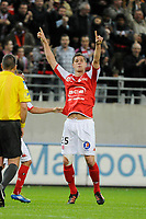 FOOTBALL - FRENCH CHAMPIONSHIP 2011/2012 - L2 - STADE DE REIMS v AS MONACO - 07/05/2015 - PHOTO JEAN MARIE HERVIO / REGAMEDIA / DPPI - JOY Anthony WEBER (REI) AFTER HIS GOAL