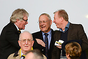 Comedian Jim Davidson jokes with Derby County manager Steve McClaren during the EFL Sky Bet Championship match between Burton Albion and Nottingham Forest at the Pirelli Stadium, Burton upon Trent, England on 11 March 2017. Photo by Jon Hobley.