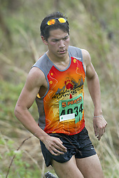 """(Kingston, Ontario---16/05/09) """"Matt Murphy finished 5 in the men's 10-12 km Enduro Race at the 2009 Salomon 5 Peaks Trail Running series Race held in Kingston, Ontario as part of the Eastern Ontario/Quebec division.""""  Copyright photograph Sean Burges/Mundo Sport Images, 2009. www.mundosportimages.com / www.msievents.com."""