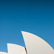 Distinctive shape of Sydney Opera House roof.